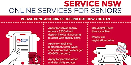 Service NSW Online Services for Seniors tickets
