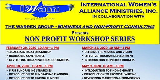 International Women's Alliance Ministries (IWAM) Non Profit Workshop Series