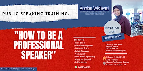 "PUBLIC SPEAKING TRAINING ""HOW TO BE A PROFESSIONAL SPEAKER"" tickets"