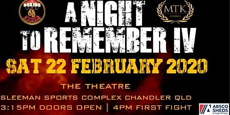A Night to Remember IV tickets