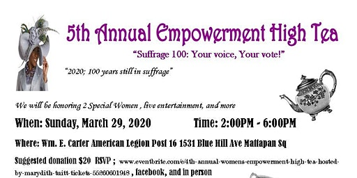 5th Annual Women's Empowerment High Tea
