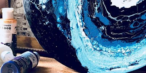 Ocean Theme Acrylic Pour