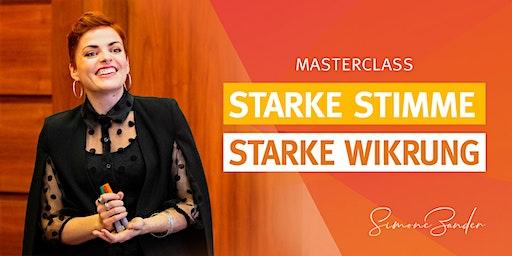 STARKE STIMME - STARKE WIRKUNG! Masterclass mit Simone Zander