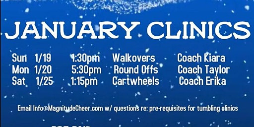 January Tumbling Clinics