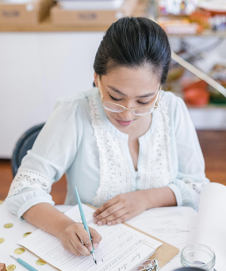 4 hour Modern Calligraphy  Workshop 101 ( May 29-30, 2021) image