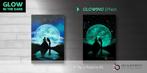 Glow Sip & Paint : Glow - Cinderella & Prince Charming