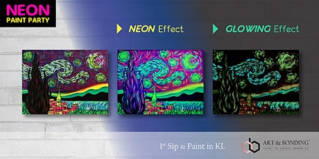 Sip & Paint Night : NEON Paint Party - Neon Starry Night by Van Gogh tickets