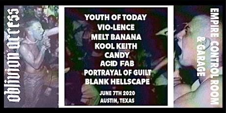 YOUTH OF TODAY • VIO-LENCE • MELT BANANA • KOOL KEITH • KOOL KEITH • & MORE tickets