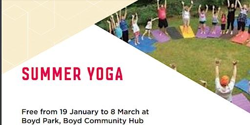 Free Summer Yoga at BOYD Park