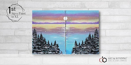 Sunday Sip & Paint : Jigsaw Puzzle Painting - Pastel Lake tickets