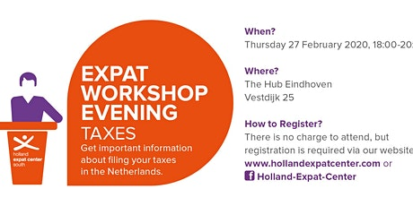 Expat Workshop Evening: Tax Session in Eindhoven tickets