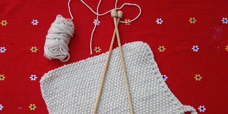 Learn To Knit-cotton dishcloth. tickets