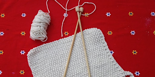 Learn To Knit-cotton dishcloth.