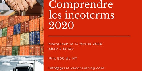 FORMATION: COMPRENDRE LES INCOTERMES 2020 tickets