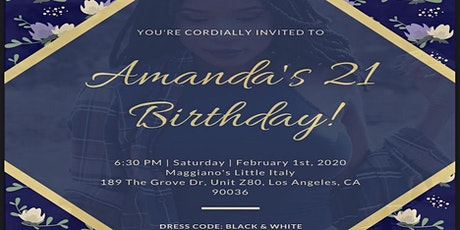Amanda's 21st Birthday Dinner  tickets