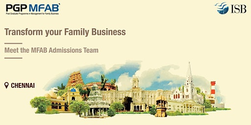 ISB (PGPMFAB)Family Business Coffee Meet at  | Chennai
