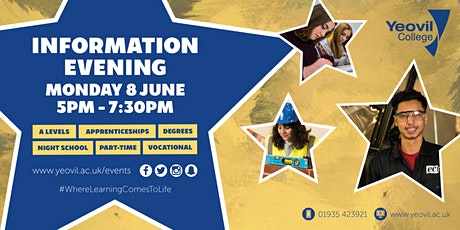 Yeovil College Information Evening - June 2020 tickets