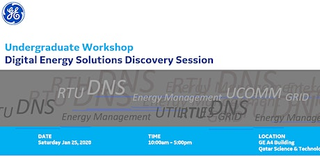Undergraduate Workshop: Digital Energy Solutions Discovery Session tickets