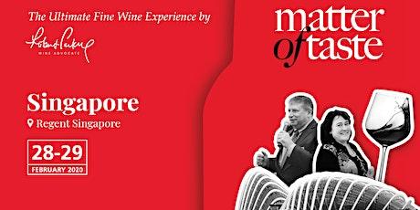 Matter of Taste Singapore 2020 tickets