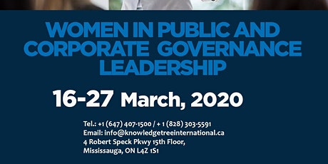 WOMEN IN PUBLIC AND CORPORATE  GOVERNANCE LEADERSHIP tickets