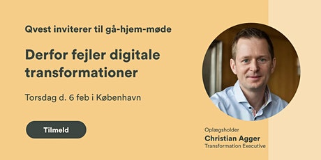 Gå-hjem møde - Derfor fejler digitale transformationer tickets