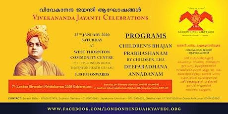 Vivekananda Jayanti Celebrations by London Hindu Aikyavedi on 25th Jan 2020 tickets