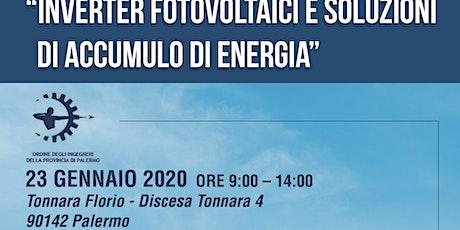 Inverter Fotovoltaici e soluzioni di accumulo energia biglietti