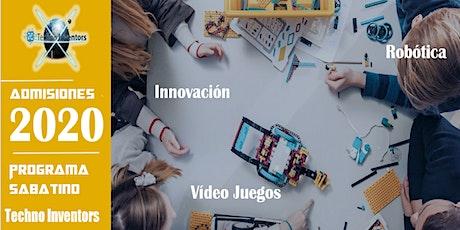 Taller Introductorio/Open House/Sábados/Univ. Politécnica/ Techno Inventors entradas