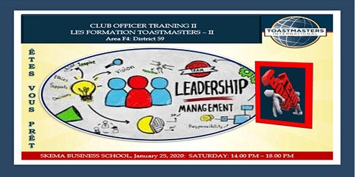 LES FORMATIONS TOASTMASTERS| CLUB OFFICER TRAINING