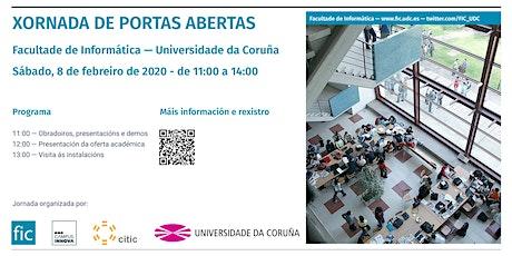 Jornada de puertas abiertas 2020 - Facultade de Informática da Coruña entradas
