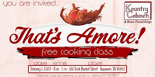 That's Amore! Free Cooking Class