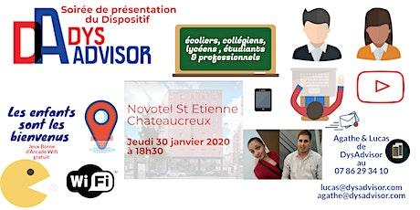 Présentation du dispositif DysAdvisor ateliers méthodes & applications Dys billets