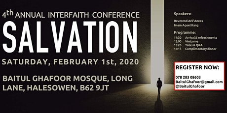 4th Annual Interfaith Conference 2020   Baitul Ghafoor Mosque   Halesowen tickets