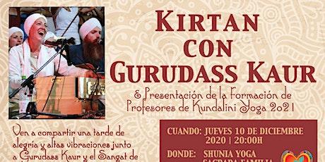 Kirtan con Gurudass Kaur y presentación de la Formación de Profesores 2021 entradas