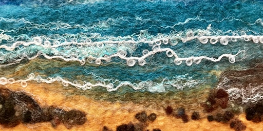 Learn how to make a wet felted landscape picture