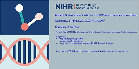 Research Design Service South East - NIHR Research Programmes Workshop tickets