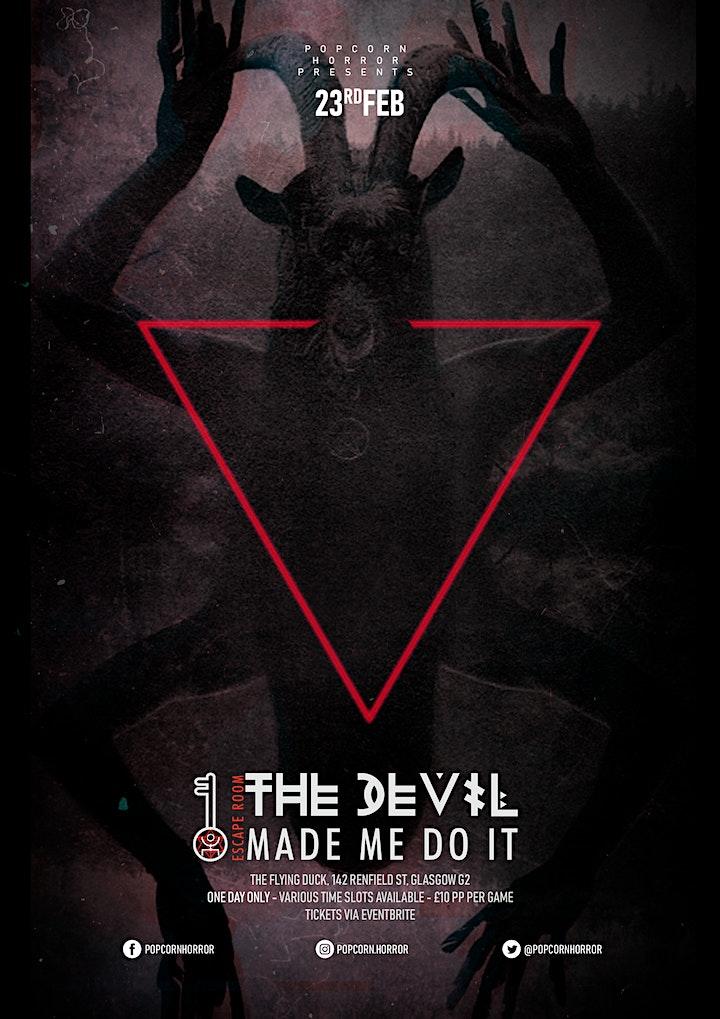 The Devil Made Me Do It: A Folk Horror Occult Escape Room image