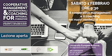 Lezione Gratuita: Cooperative Management & Coaching for Integral Formation 01 febbraio 2020 tickets