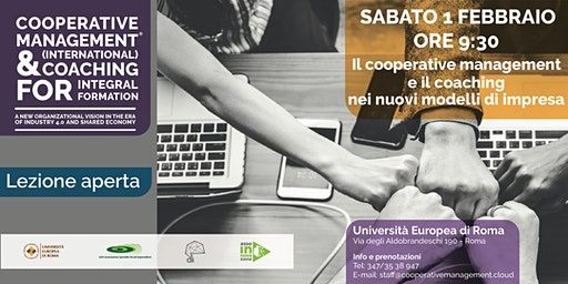 Lezione Gratuita: Cooperative Management & Coaching for Integral Formation 01 febbraio 2020