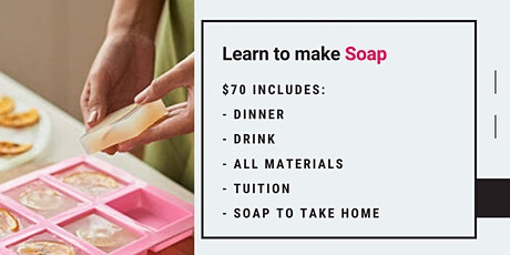 Grab a glass of wine and learn to make the perfect custom soaps! tickets