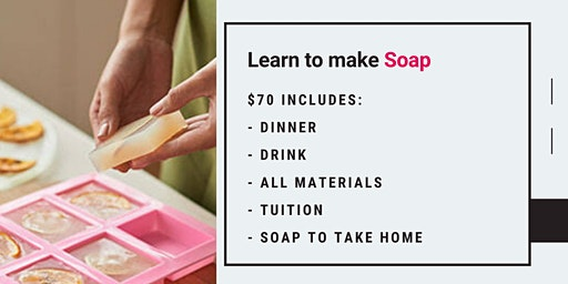 Grab a glass of wine and learn to make the perfect custom soaps!