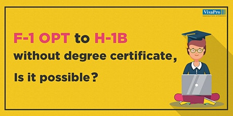 H-1B Registration: What's New For F-1 OPT Students tickets