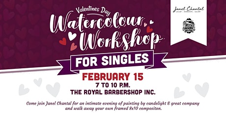 Valentines Day Watercolor Workshop for Single with Janel Chantal  tickets