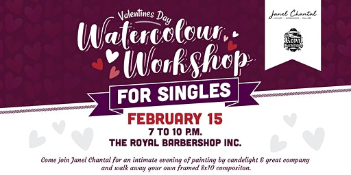 Valentines Day Watercolor Workshop for Single with Janel Chantal