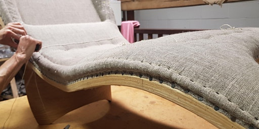 An upholstery taster session, British stitching