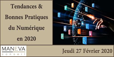 Tendances et Bonnes pratiques du Numérique en 2020 billets