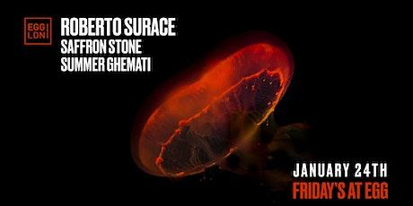 Fridays at EGG: Roberto Surace, Saffron Stone More tickets