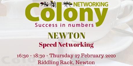 Colony Speed Networking (Newton) - 27 Feb 2020 tickets