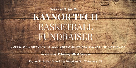 Kaynor Tech Basketball Fundraiser: Wood Painting Workshop tickets