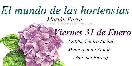 """Charla """"El mundo de las hortensias"""" entradas"""